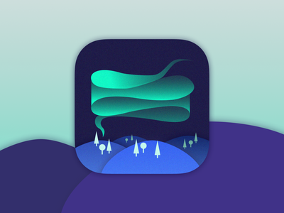 App Icon - Daily UI 005 aurora aurora borealis northern lights dailyui 005 daily ui 005 vector logo illustration daily 100 app ui  ux design uidesign daily ui dailyui ui design