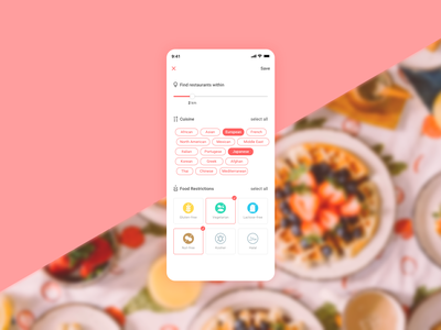 Settings - Daily UI 007 daily ui 007 settings page setting settings restaurant app food app food mobile illustration app daily 100 ui  ux design uidesign daily ui ui dailyui design