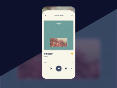 Music Player - daily ui 009 uidesign player ui music app mobile ui mobile player musicplayer music daily 100 challenge dailyui