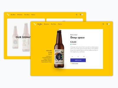 E-Commerce Shop - Daily UI 012 dailyui 012 e-commerce app e-commerce beer brewery e-shop branding web ui  ux design daily 100 daily ui ui uidesign design dailyui