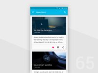 Day 65 - Newsfeed UI