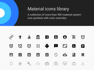 Material Icons Library Cover