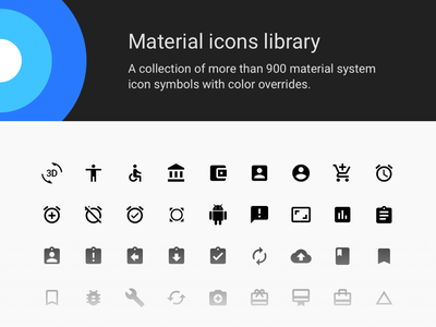 Material Icons Library Cover freebie google material icons