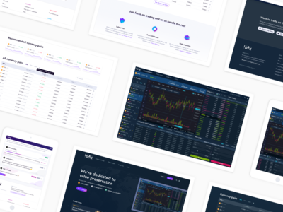 Idax Cryptocurrency Exchange Screens