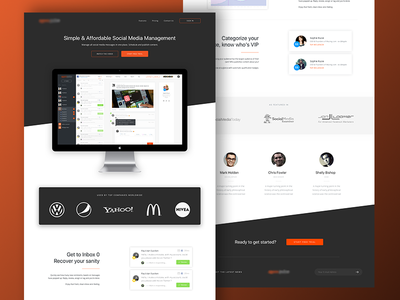 Landing Page user experience web interface web design marketing page ui ux usability simplicity branding identity ux ui landing