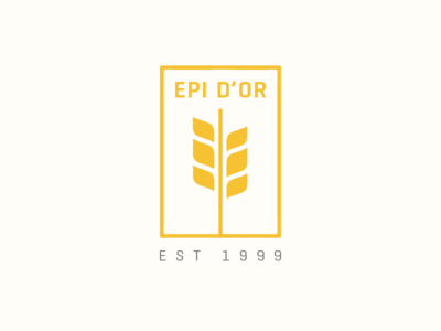 Wheat Logo french agriculture flat minimal clean restaurant wheat logo
