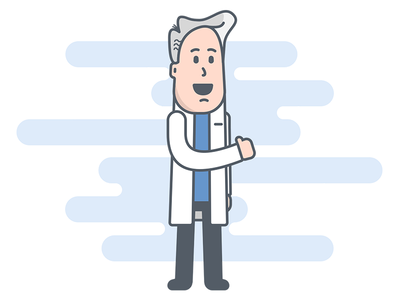 Science Guy simple cute illustration person guy old guy dude science
