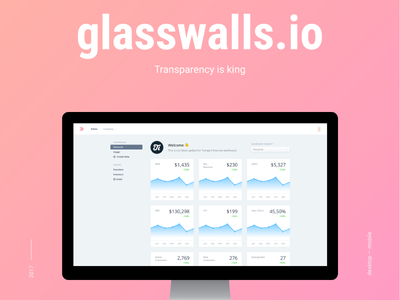 Glasswalls.io dashboard