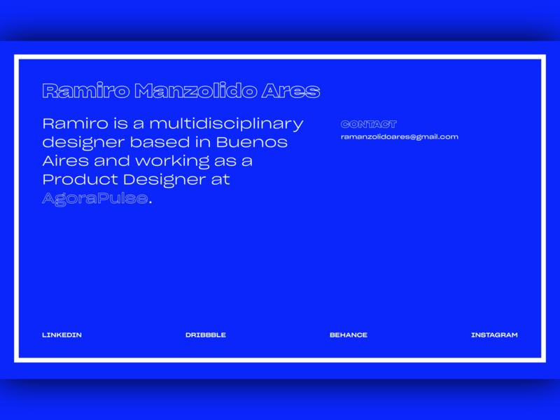 Personal Website interface flat colors ui uiux clean design typogaphy type text blue site personal code css web design web