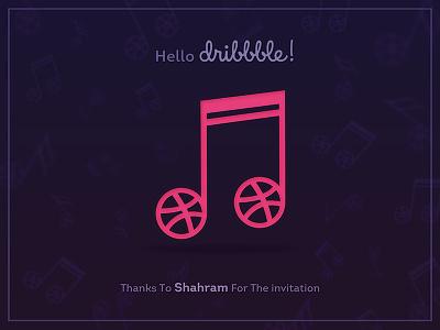 Hello Dribbble! note designing