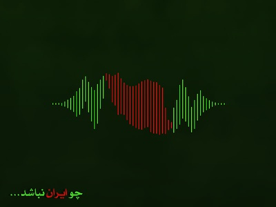 Iran Forever pulse map flag country iran