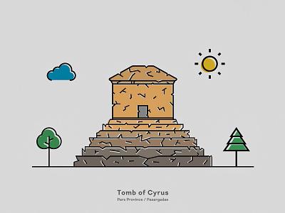 Tomb of Cyrus fars shiraz pasargad pasargadae iran