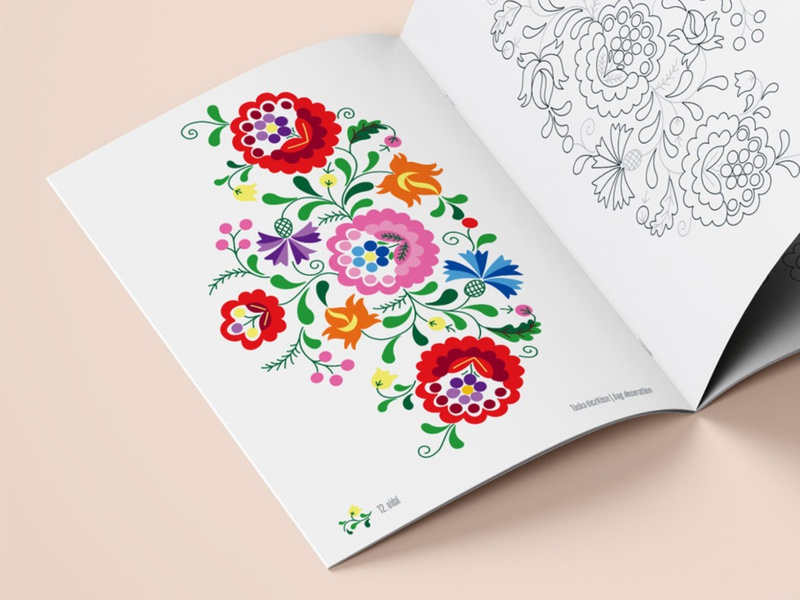 Fok art coloring book design