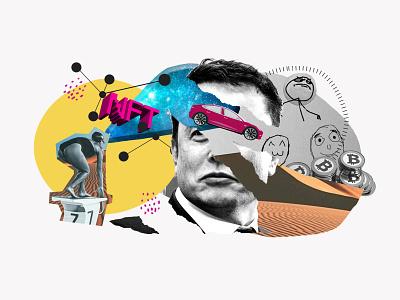 NFT / Meme's / Musk minimal typography vector marketing branding design