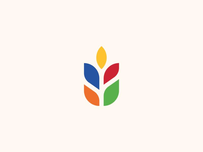 Branding non profit tear flower vector logo illustration clean agency marketing design branding