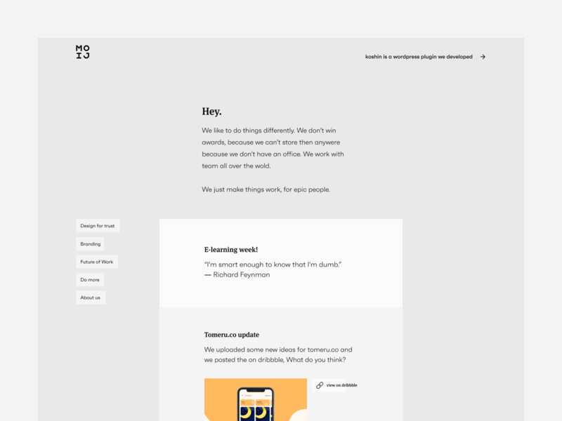 new website for our remote agency icon daily vector typography logo design branding marketing agency clean