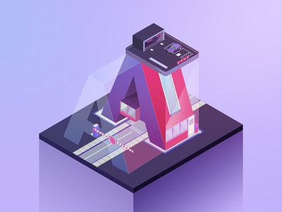 36 Days A illustrator design letters typography alphabet isometric type