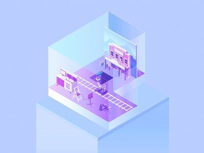 36 Days P filmmakers postproduction vectorial type perspective music letters isometric illustration 36daysoftype alphabet