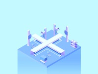 36 Days X color x-ray blue perspective x letters isometric design isometric illustration 2d isometric 36daysoftype05 36days-x 36daysoftype