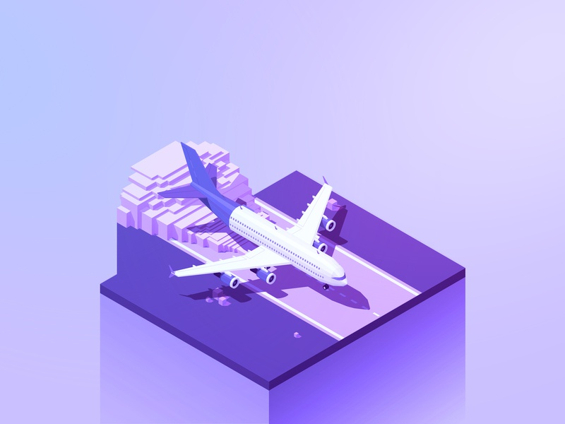 36 Days Y isometric illustration 2d art concept typography avion perspective purpura purple isometria letters fly 2d isometric 36daysoftype05 36days-y 36 days of type