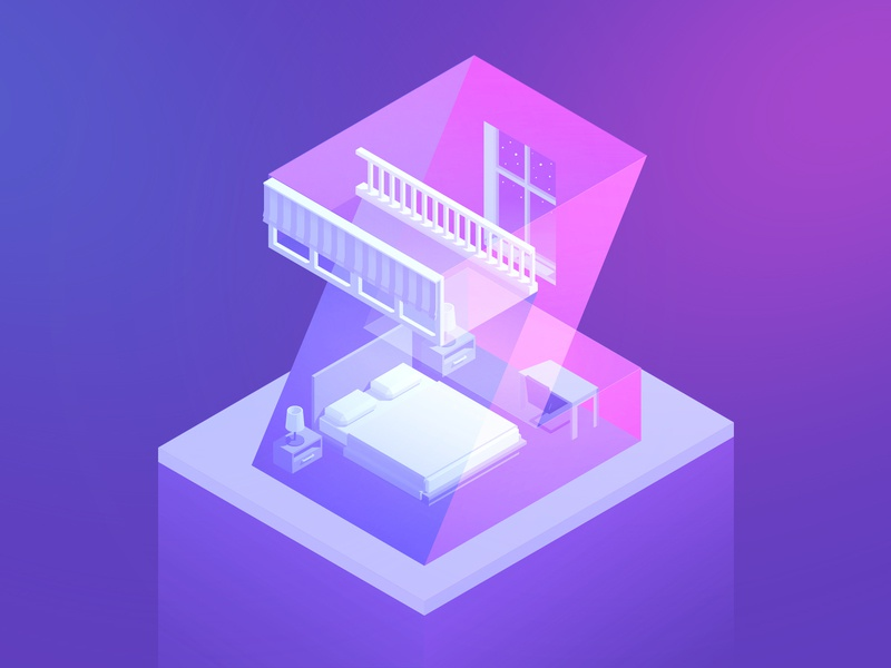 36 Days Z window bed beauty pink types illustration sweet dreams sweet type dream isometria isometric purple 3 color perspective typography letter z 36daysoftype-05 z 36days-z 36daysoftype
