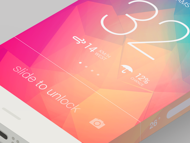 ios7 Infinity shot iphone flat color ios7 infinity weather unlock