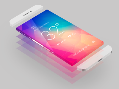 Translucent Infinity screen flat iphone weather color infinity ios7 unlock see through translucent