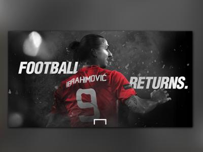 Football Returns. bayern munich barcelona messi juventus psg manchester united liverpool graphic design ibrahimovic goal new season football