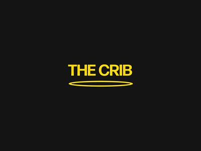 The Crib Logo ring teleport typography identity vector studio logo