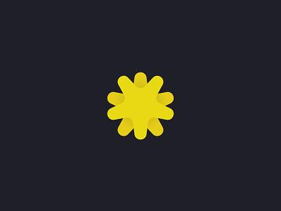 Flower Orb Logo Design symbol logomark orb flower logo