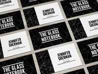 The Glass Notebook Business Card Design