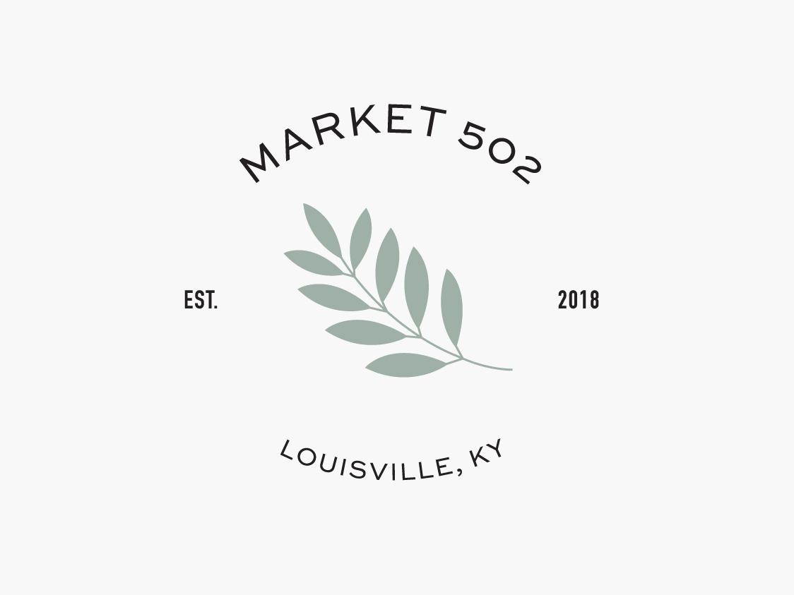 Market 502 Secondary Logo online boutique startup logo branding identity branding