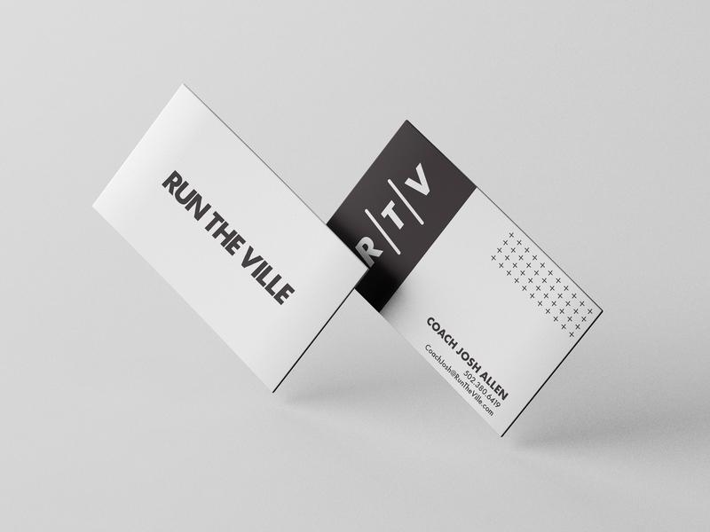 RunTheVille Business Card namestreetstudio typography startup business card design logo branding identity branding