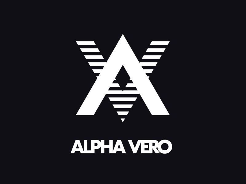 ALPHA VERO monogram logo mark typography identity design logo startup branding identity branding