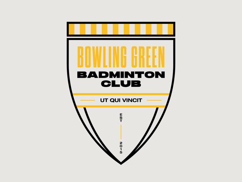 Bowling Green Badminton Club branding soccer sports logo design