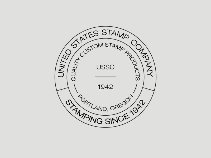 United States Stamp Company Logo logo mark logo design circle logo business card typography identity startup design logo branding identity branding