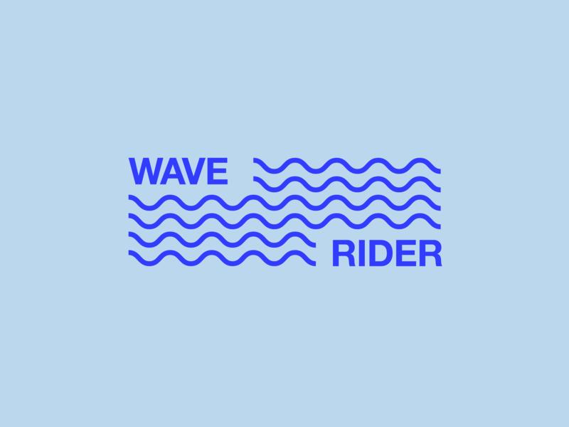 Wave Rider Logo logo mark logo design typography identity design startup logo branding identity branding