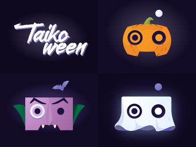 Taikoween taiko pumpkin vector art vector brand sketch illustrator ghost vampire 2d spooky dynamo character halloween design illustration