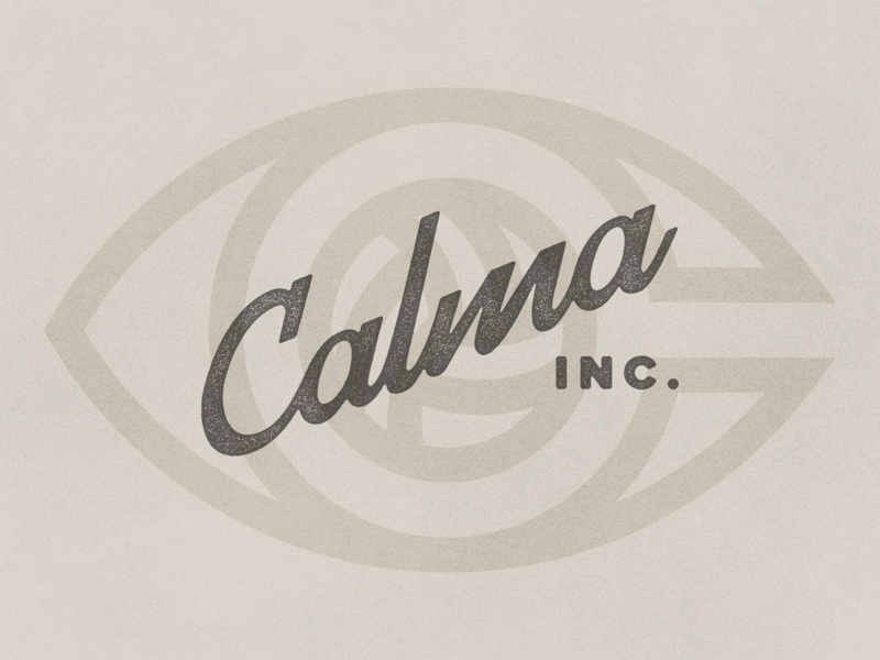Calma fashion football ball line luxury retro minimal lettering branding texture badge footy soccer logotype script logo