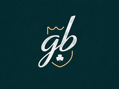 Irish Goodbye Alternates patch embroidery ireland clover gold lockup gaelic crest heraldry minimal script boat shamrock celtic lux retro shield badge logo