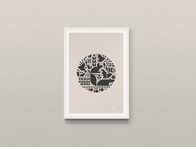 Hygge Pattern Print