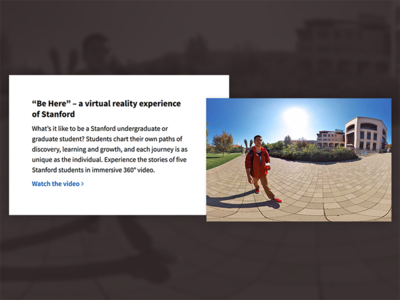 Stanford Homepage Image + Content