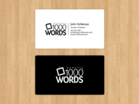 Exactly1000Words card design