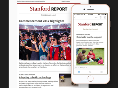 Stanford Report Email Template