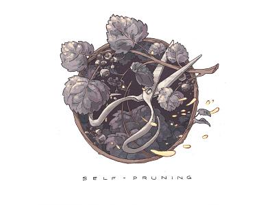 Pruning Shears growth illustration gardening