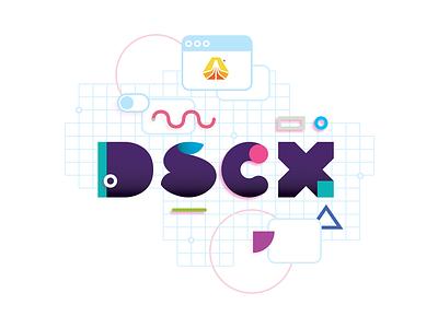 DSCX Summer Line tank top memphis style lettering branding