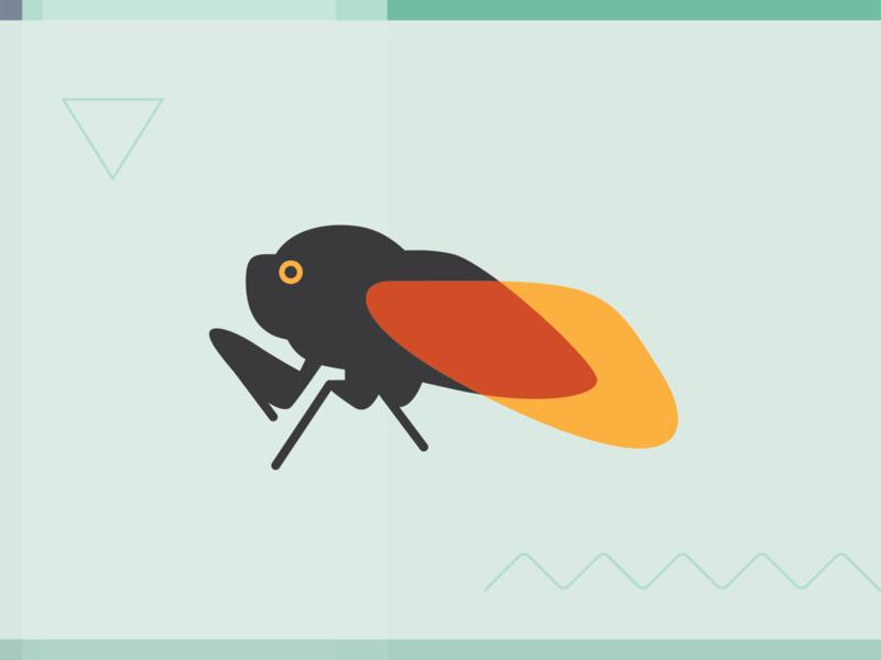 Cicada Branding - 01 logo insect branding cicada