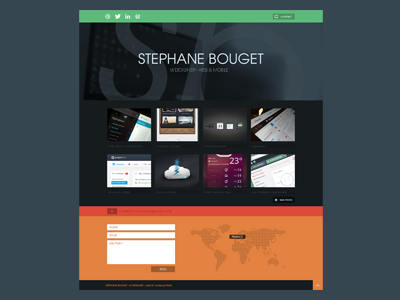 new Portfolio 2013 flat portfolio switch available contact site web website personnal projects
