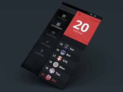 soccer app menu app soccer football red flat