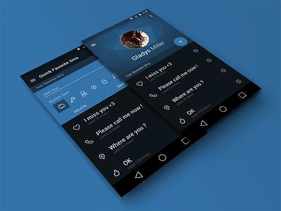 Quick Favorite Sms Widget Material Design quick favorite sms widget material design